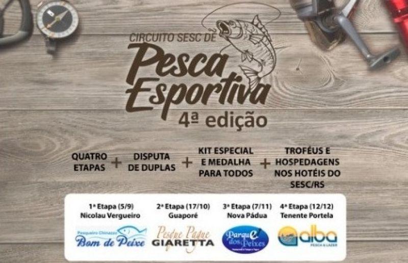 Quarta edição do Circuito SESC de Pesca Esportiva inicia no final de semana
