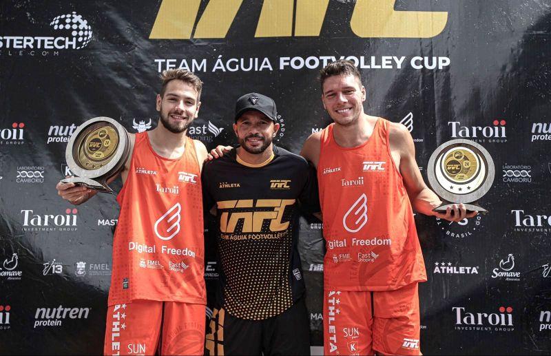 Cesar Fiorio conquista a categoria Open do TAFC Team Águia Footvolley Cup