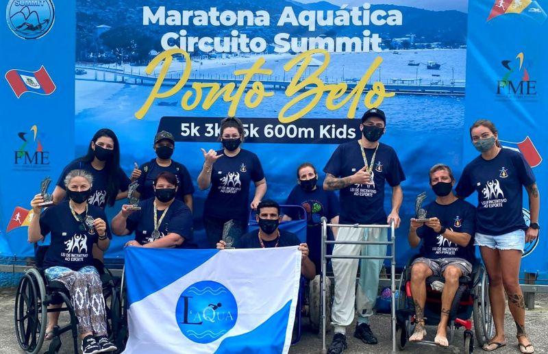 Paratletas deram show na maratona aquática de Porto Belo/SC